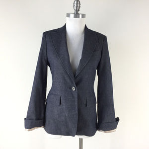 BCBGMaxAzria S Blue Denim Chambray blazer